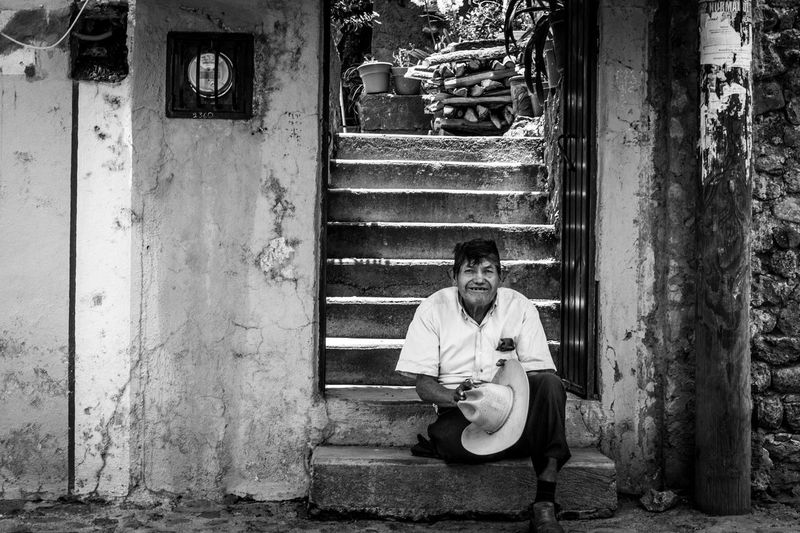 Taking Photos Relaxing Rural 40mm F/2.8 Canonphotography Mexico Old Man Black & White