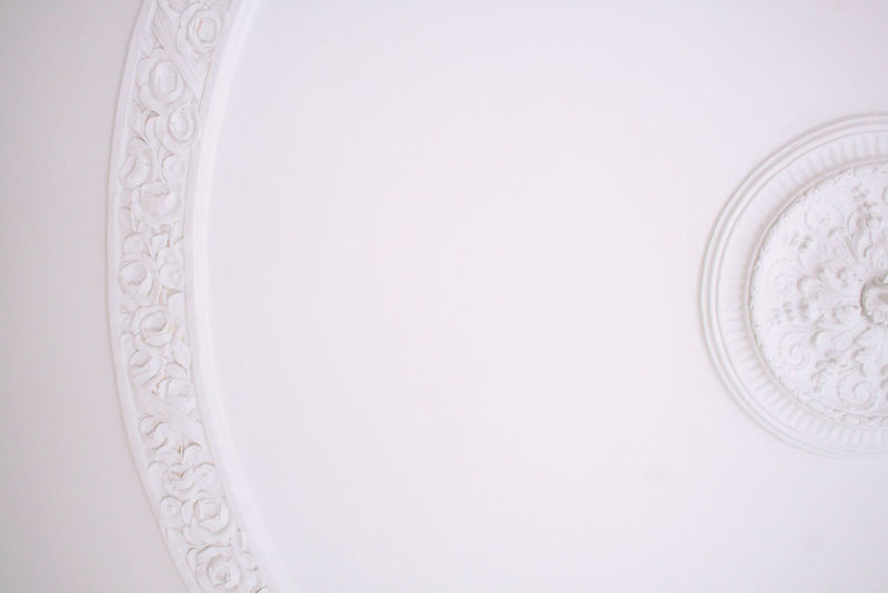 Ceiling Close-up Copy Space Day Flower Design Indoors  Moulding No People Pattern Stucco White White Background Jugendstil art nouveau architecture The Graphic City