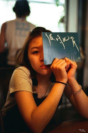 CanonEos55 fujicolor100 文青路線 Fujicolor Industrial 100 Fujifilm Canon Eos55 Film Women Adult Indoors  Emotion Females One Person Young Adult