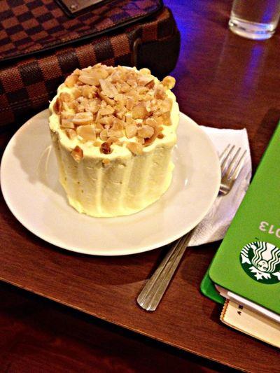 treating my hungry tummy . SansRivalCake Studying Alone