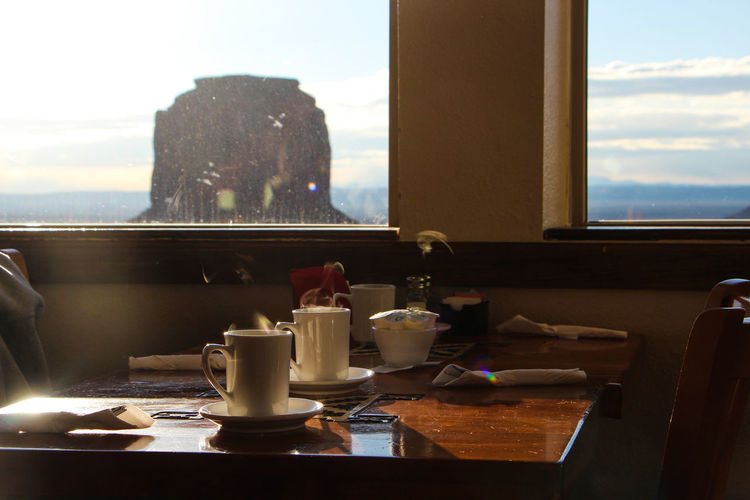 Window Table Food And Drink Indoors  No People Transparent Cup Drink Glass - Material Day Sky Nature Food Refreshment Absence Glass Mug Container Furniture Tea Cup The View From My Window The View Hotel Arizona