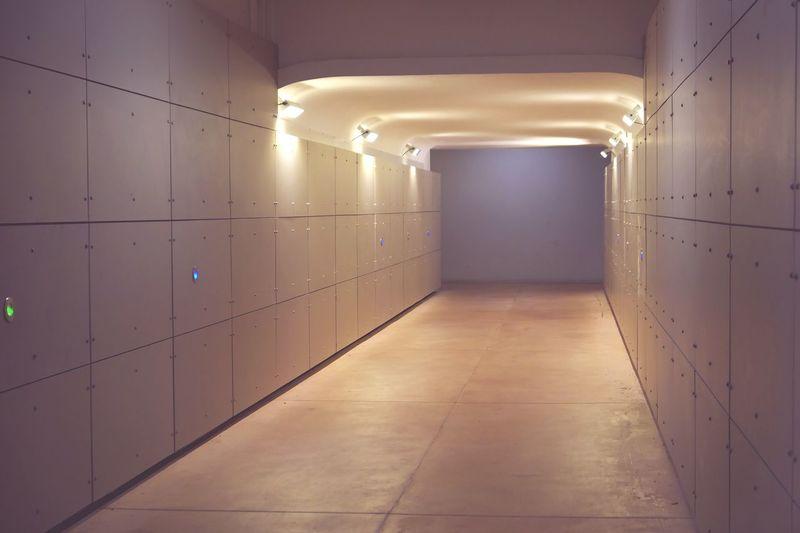 Empty illuminated corridor