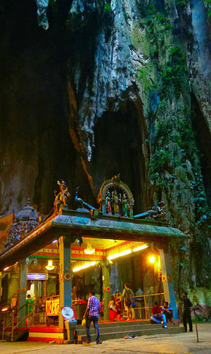 Cave Temple Hindu Temple Heritage Building Limestone Cave Stalactite  Stalagmites Place Of Worship Places Of Worship Hinduism Devotees Tourist Attraction  Illuminated Religious  Religious Architecture Deities Hindu Shrine Worshippers