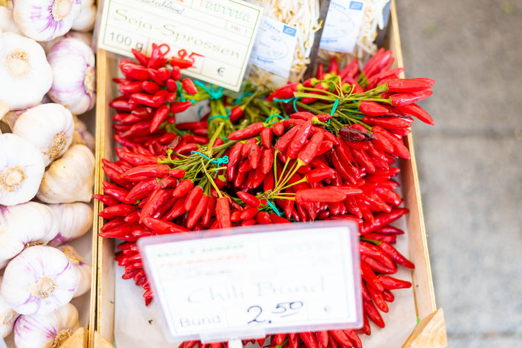 Business Chili Pepper Communication Food Food And Drink For Sale Freshness High Angle View Large Group Of Objects Market Market Stall No People Pepper Red Red Chili Pepper Retail  Retail Display Spice Still Life Vegetable Wellbeing