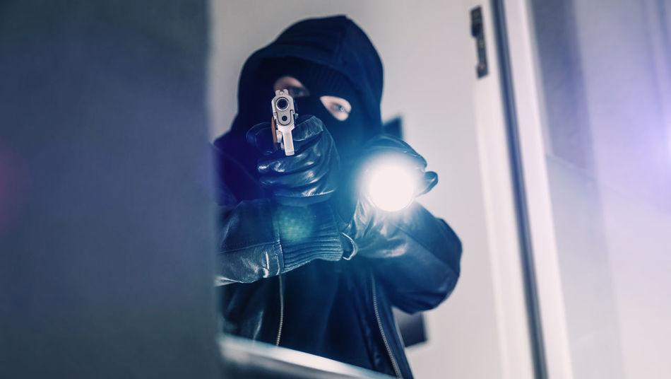 Adult Burglar Crime Criminal Gangster GrandTheftAuto Gun Illegal Intruder  Killer Murder One Person Robber Robbery Theft Weapon
