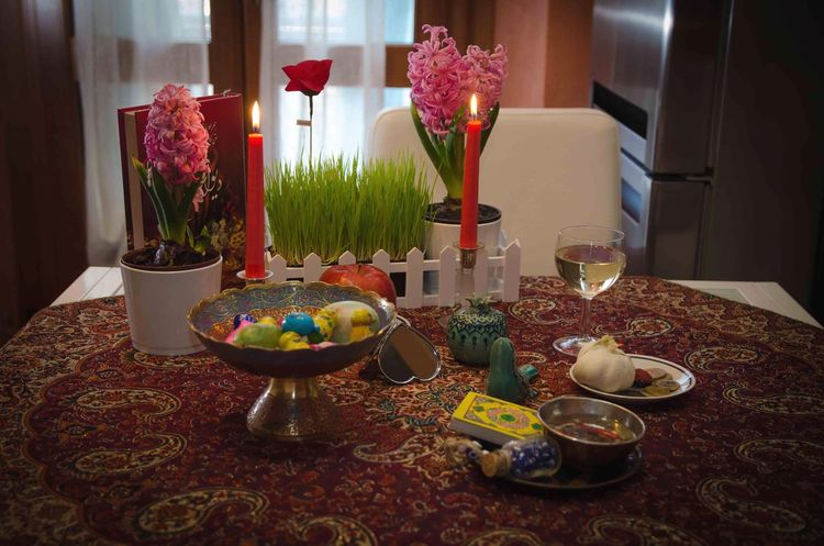 Nowruz Persian New Year 1397 Spring Persian Nowruz Table Candle Indoors  No People Home Interior Flower Place Setting Wineglass Day