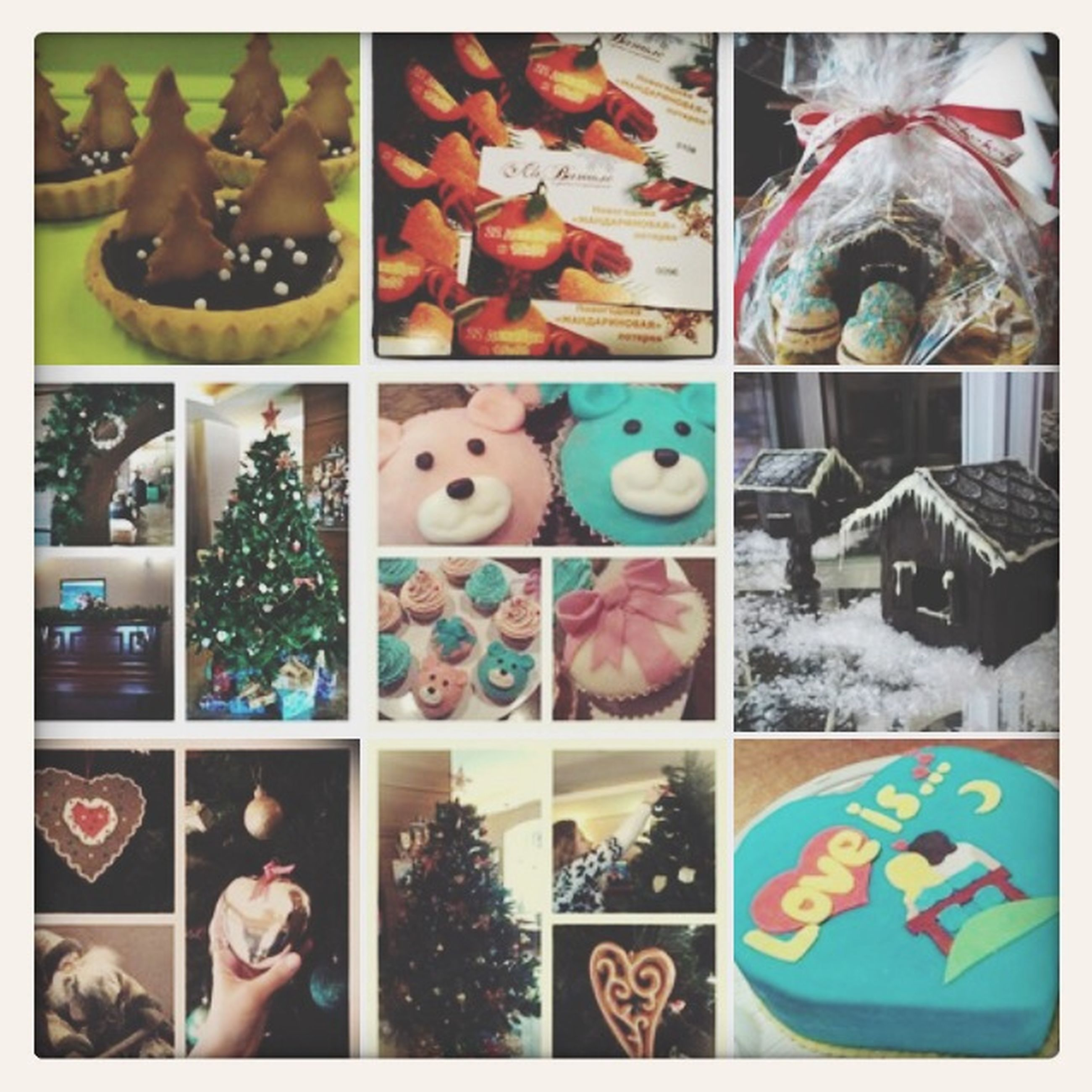 transfer print, indoors, auto post production filter, variation, food and drink, sweet food, lifestyles, multi colored, high angle view, choice, large group of objects, leisure activity, abundance, food, dessert, close-up, unhealthy eating
