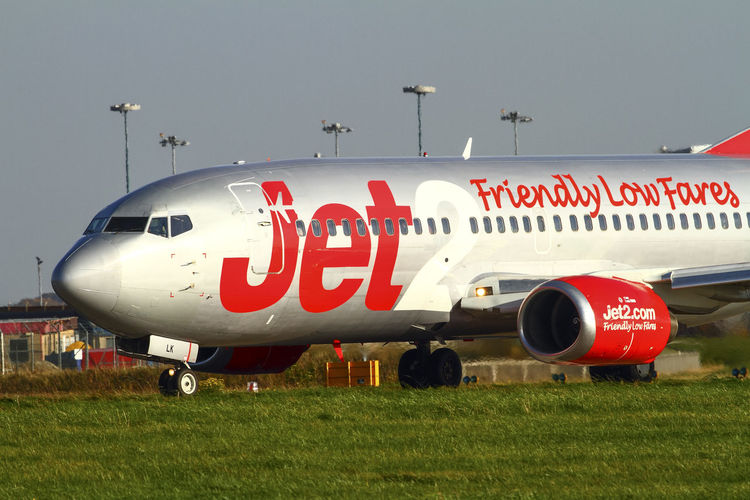 Jet 2 boeing 737 aircraft on the runway at leeds bradford airport - Editorial use only Holiday Holidays Lba Leeds Bradford Airport Plane Runway Travel Air Travel  Aircraft Airplane Airport Aviation Boeing 737 Jet Jet 2 Mode Of Transportation Passenger Plane Tourism Transportation Travel Yeadon Airport