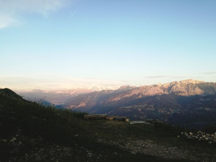 Mont Blanc Solitude Cloud Tree Mountain Sunset Winter Rural Scene Cold Temperature Snow Sunlight Sky Landscape