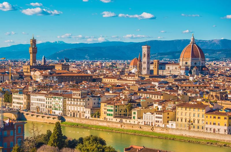 Florence cityscape against sky