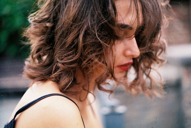 Beautiful Woman Brown Hair Close-up Day Fashion Film Film Photography Filmisnotdead Focus On Foreground Headshot Lifestyles Long Hair One Person Outdoors People Portrait Real People Woman Young Adult Young Women EyeEm Selects Breathing Space EyeEm Ready
