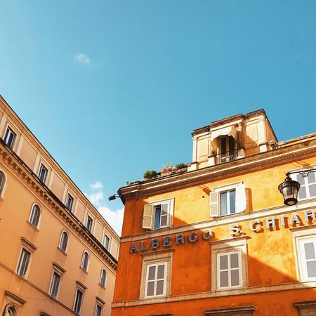 Architecture Built Structure Building Exterior Low Angle View Residential Building Old Town Historic Colorful Vibrant Color Italy Rome, Italy Vacations Tourism Travel Destinations