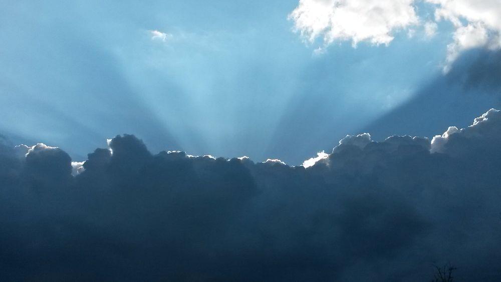 Cloud - Sky Nature Beauty In Sky Outdoors Day Clouds Blue Blue Sky Light Sunlight Sunbeams