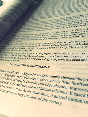 Studying Sociology Book Letters Blackandwhite