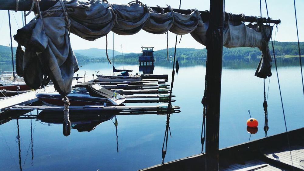 Sunny Morning Warm Morning Swedish Summer Harbour View