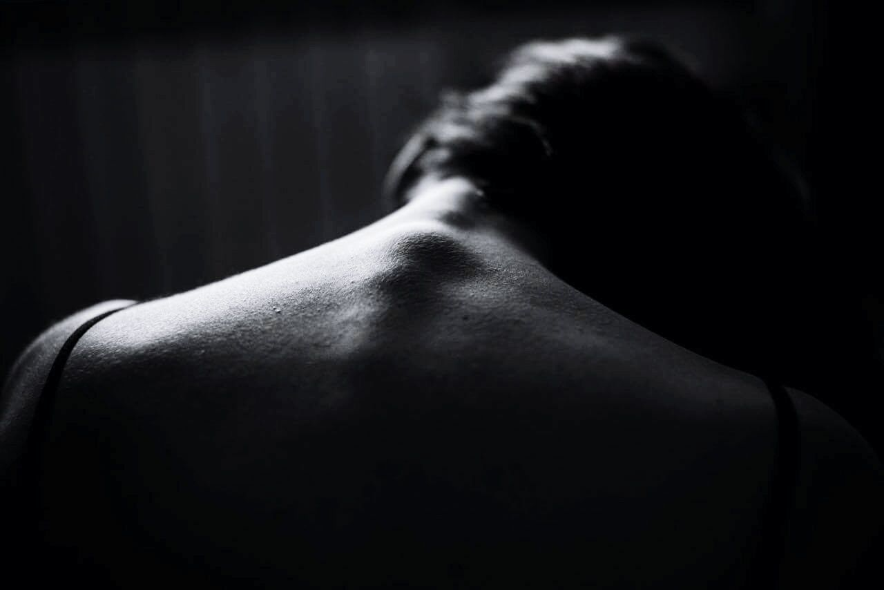 Close-up of woman back
