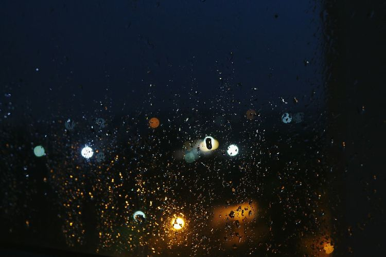 Night Illuminated No People Backgrounds Outdoors Close-up RainDrop Multi Colored Water Dropsofwater Rain Windowview Rainy Days The Week On EyeEm Been There.