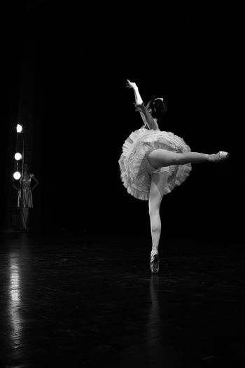 Ballet dancer performing on stage