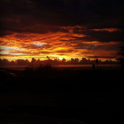 Sky on fire!
