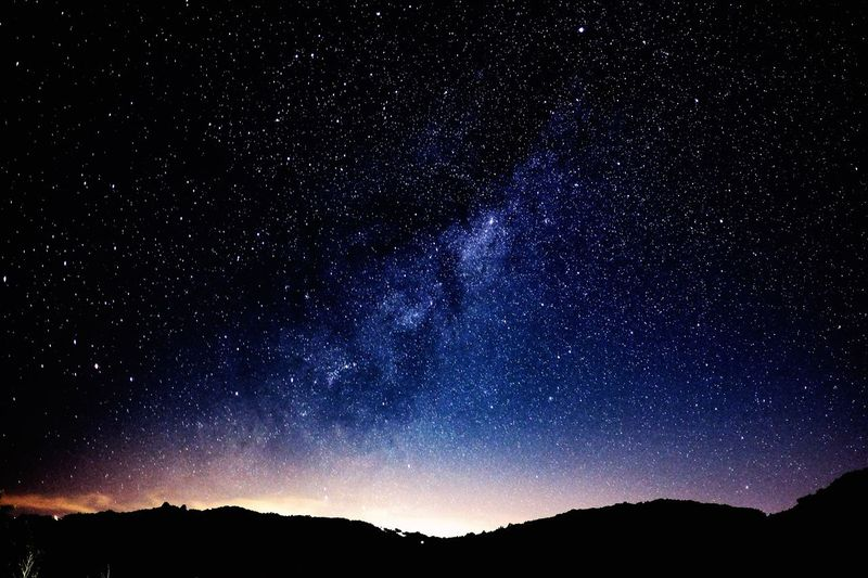 Astronomy Beauty In Nature Constellation Galaxy Low Angle View Milky Way Milkyway Nature Night No People Outdoors Scenics Sky Space Star - Space Star Field Tranquil Scene Tranquility Tree
