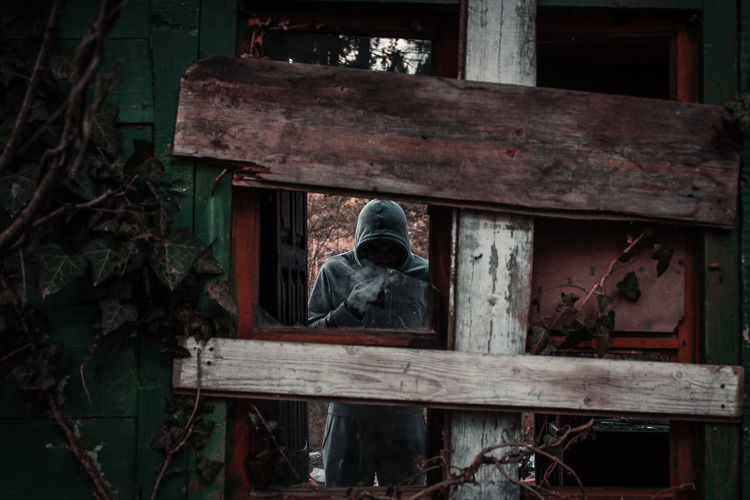 Man in the abandoned house