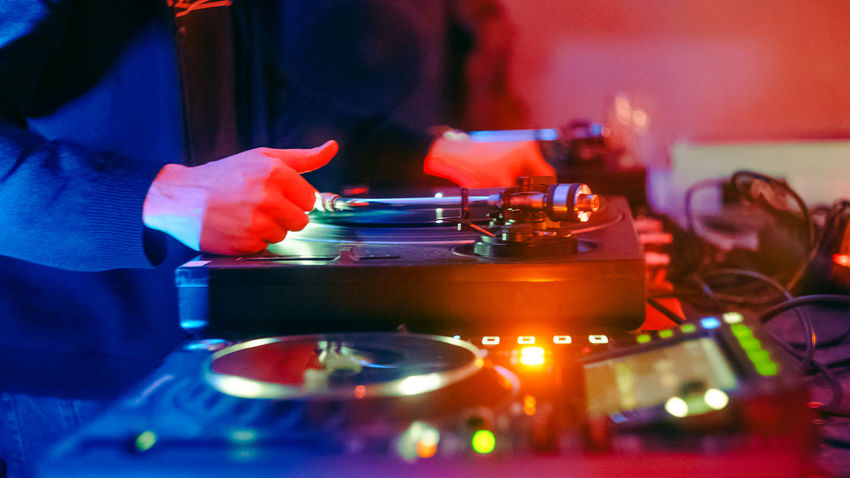 DJing Dj Set Music Close-up Day Dj Mixer Holding Human Body Part Human Hand Indoors  Lifestyles Men Occupation One Person People Performace Playing Real People Selective Focus Skill  Technology Working