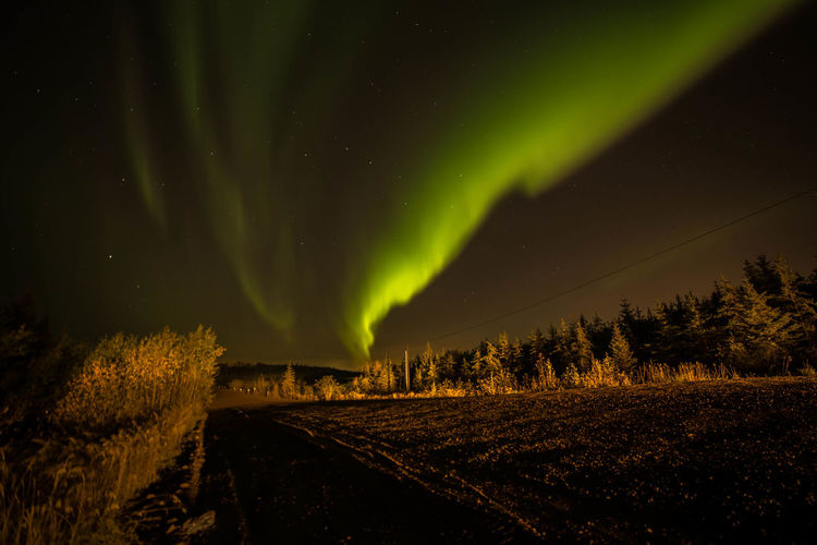 Alberta Canada Aurora Borealis Galaxy Constellation Infinity Star Field