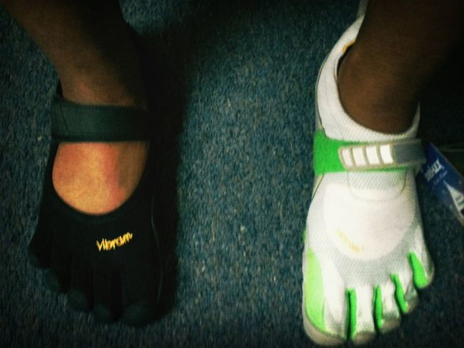 I'm different lol track shoes on the left and just because on the right , I love wing outta the box !