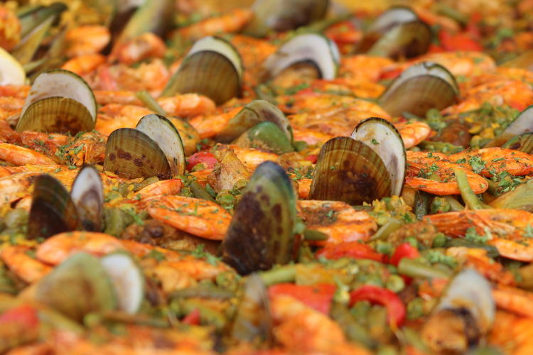 Full Frame Shot Of Paella