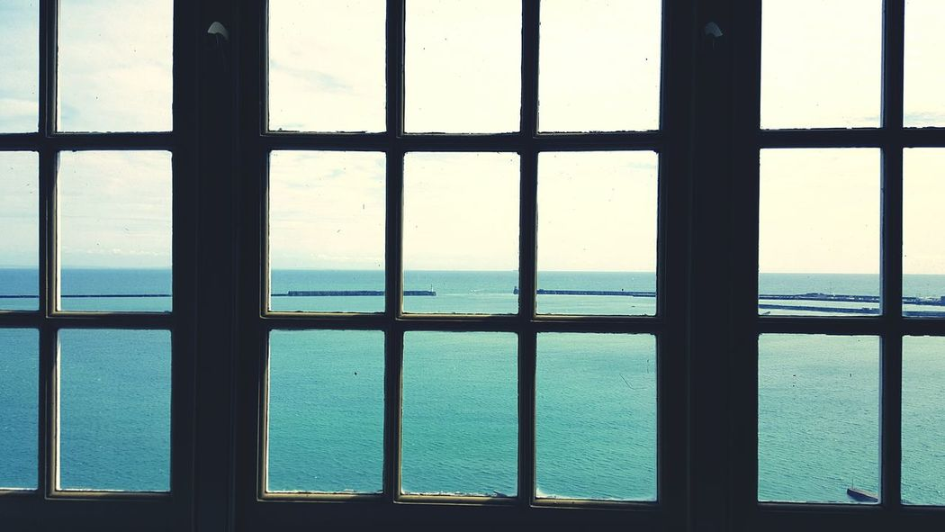 Framing the view Sea And Sky English Channel Port Dover Horizon Window Landscape Enjoying The Sights Taking Photos EyeEm Britian