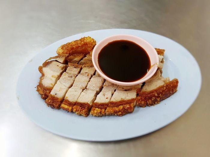Moo crob, crispy pork