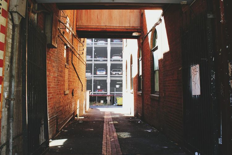 Alley amidst buildings