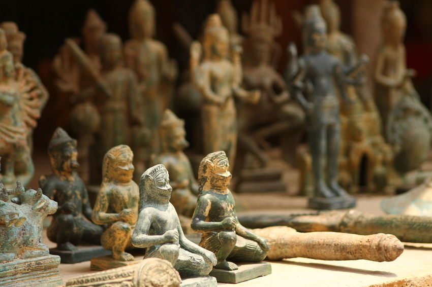 Artifacts Cambodia Day Figurine  First Eyeem Photo Human Representation Idol In A Row Indoors  Khemer Artifacts Khemer Culture Light And Shadow Male Likeness No People Religion Sculpture Shadows Spirituality Statue Tourism Cambodia Tranquility Travel Cambodia Travel Photography