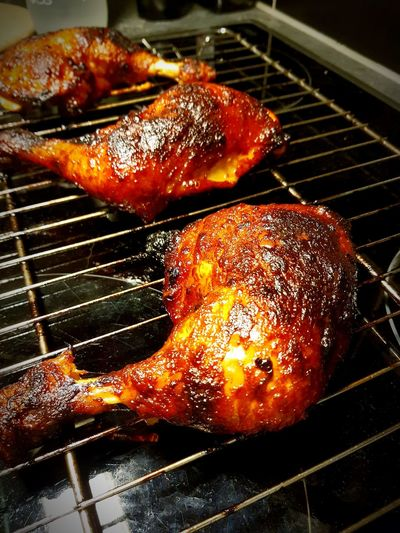 grilled chicken Food Meat Barbecue Heat - Temperature Flame Preparation  Preparing Food Burning Grilled Barbecue Grill Close-up Char-grilled Coal Chicken Wing Grilled Chicken Fried Chicken Chicken Leg Chicken Meat Glazed Food Roast Chicken White Meat