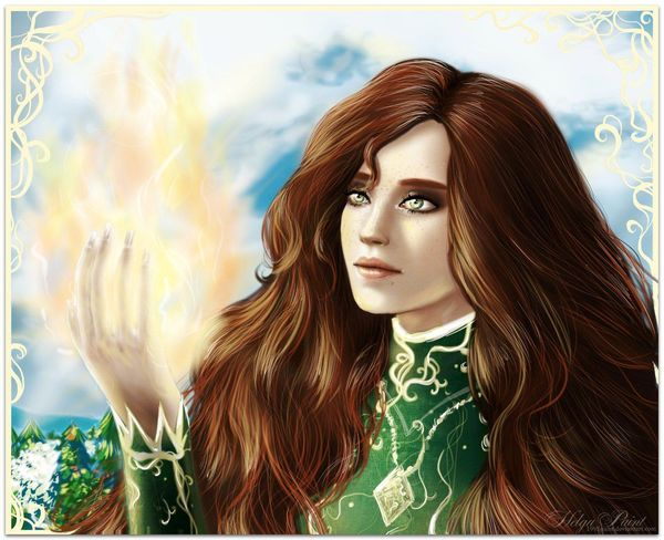 1995paint 2017 HelgaPaint Sapkowski Triss Merigold Art Beautiful Woman Fantasy Girl Long Hair Magic One Person Portrait Thewitcher Thewitcherbooks Triss Witch Young Women