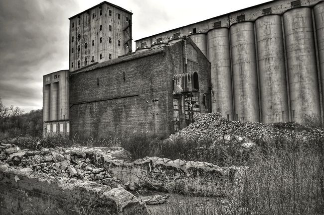 Abandoned Rubble Wall Rubble Factory Factory Building Industrial Landscapes Low Angle View Lonely Built Structure Architecture History Building Exterior Outdoors Day No People