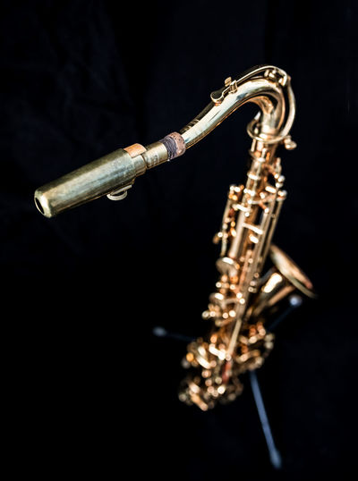 A golden saxophone. Foot Gold STAND Sax Standing Arts Culture And Entertainment Black Background Brass Close-up Cut Out Gold Colored Jazz Music Metal Music Musical Equipment Musical Instrument No People Saxophone Shiny Single Object Studio Shot Wind Instrument