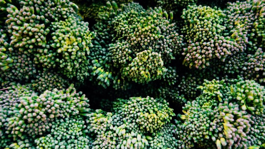 Full frame shot of broccoli at market