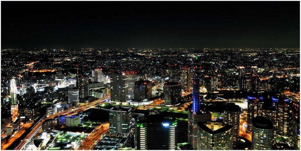 "Photo taken in the ""SkyGarden"" at 275m (Yokohama, Japan). Parameters: Nikon d700 - 6s - iso 400 - F/10 - 26mm Streetphotography Night Lights Long Exposure Eye4photography"