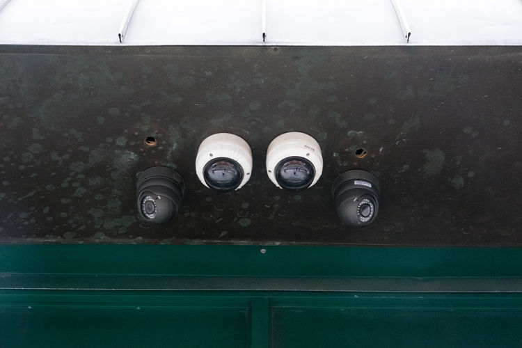 security cameras Horizontal Security Security Bar America Black Blak And White Close-up Day Domestic Animals Indoors  Metal No People Normal Panopticon Security Camera Watched Watching White