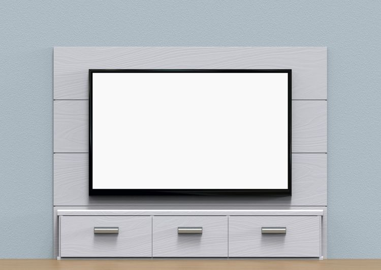 white mock up screen on black TV in modern interior scene. Decor Modern Backgrounds Black Color Blank Copy Space Design Desıgn Device Screen Empty Flat Screen Frame Funiture Home Interior Indoors  Mock Up Modern No People Screen Single Object Technology Television Tv White White Color
