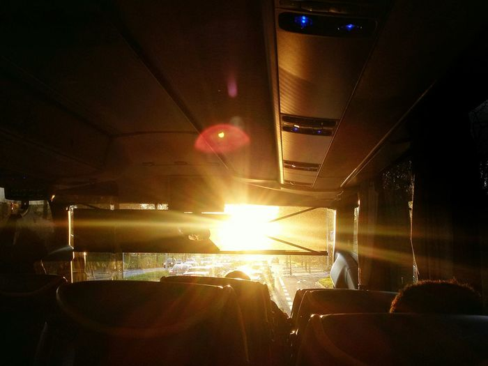 Traveling From My Point Of View Showcase: December Reisen Sunshine Glitch Sunrise In The Bus Maglido On The Road Roadtrip Travel Capture The Moment Warm Colors Light And Shadow Von A Nach B 😊 Capture