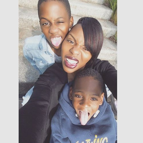 This is how we do it on a sunny sunday 😎✌😛 Tongueout Us Family Kids love qualitytime sons sunday april sunnyday
