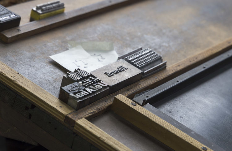 monotype printshop Crafts Press Typography Factory Job Monotype Monotype Print Printshop