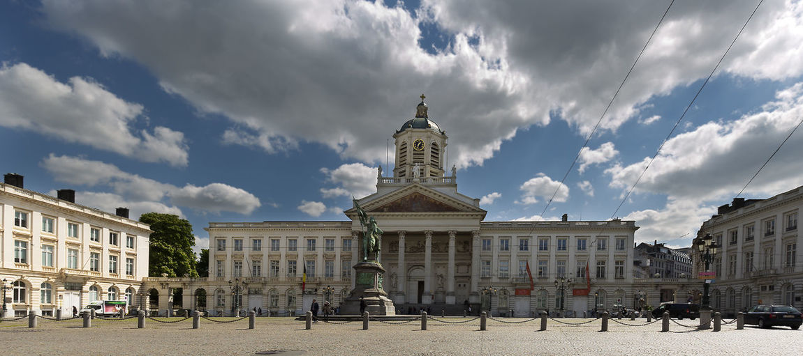 Brussels, Belgium. May 3, 2018: Views of the Royal Plaza in the capital of Belgium. Belgique Belgium Brussels Architectural Column Architecture Building Building Exterior Built Structure City Cloud - Sky Day History Incidental People Low Angle View Nature Outdoors Royal Sculpture Sky Statue The Past Tourism Tower Travel Travel Destinations