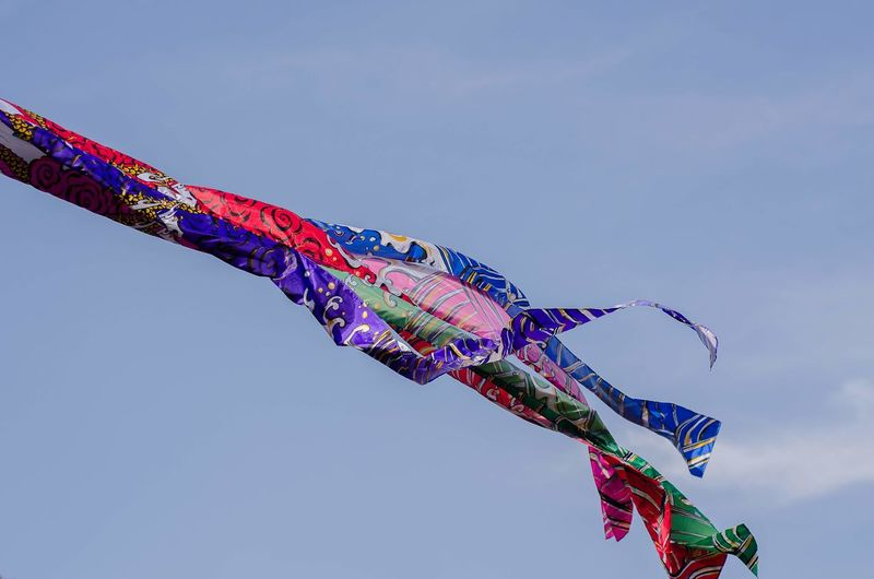 Japanese Kite Sky Blue Sky Culture Japanese Kite Representing Multi Colored Streamer Holiday - Event Flying Cultures Carp Sky Entertainment Kite - Toy Festival Wind Kiteboarding Fluttering Kite Celebration Event EyeEmNewHere