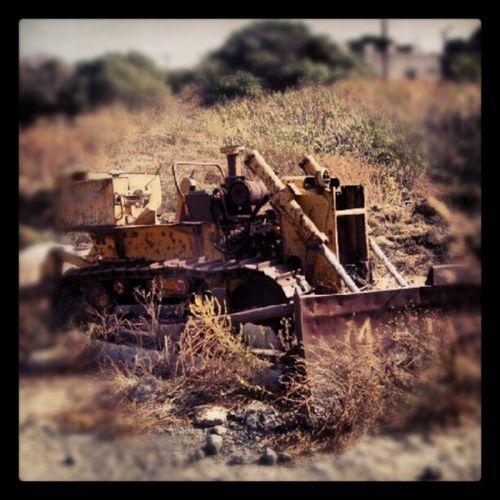 Rusted Buldozer originally shot with a Sony alpha A55