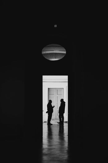 Black & White Light Architecture Black And White Blackandwhite Blackandwhite Photography Built Structure Day Full Length Illuminated Indoors  Lifestyles Light And Shadow Men Old People Photo Photography Real People Silhouette Standing Sunset Togetherness Two People Women EyeEmNewHere