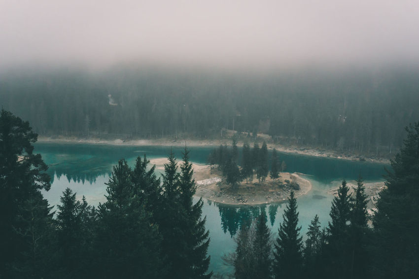 Foggy weather at the Cauma mountain lake with its turquoise colored water Alps Beauty In Nature Emerald Fog Forest Lake Mountain Lake Mountains Nature No People Outdoors Scenics Schweiz Schweizer Alpen Suisse  Svizzera Swiss Swiss Alps Switzerland Tranquil Scene Tranquility Tree Turquoise Turquoise Water Water