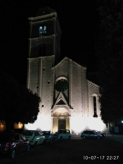 Church Architecture Built Structure Building Exterior Illuminated No People Night Summer 2017 🏊🌞 Outdoors Architecture Church Buildings Sculpture Tree Fermo Fermo Italy